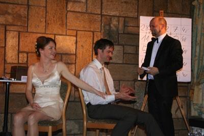 Foto Zauberer Marteau mit Hochzeitspaar